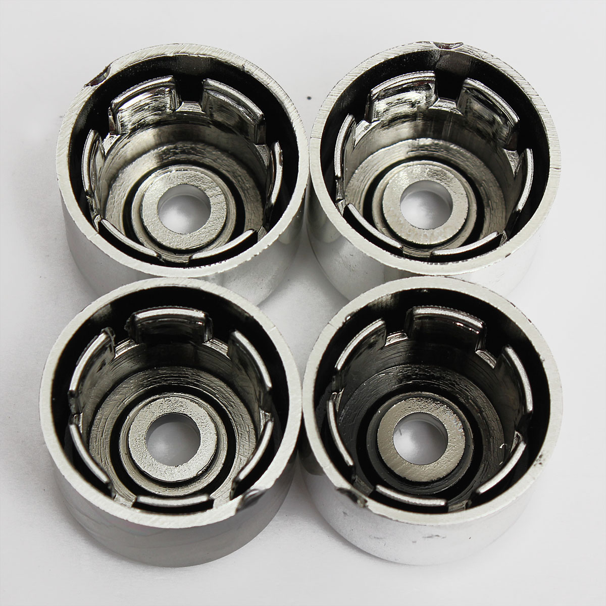 17MM Chrome Alloy Wheel Locking Nut Bolts Covers Caps for VW GOLF PASSAT POLO