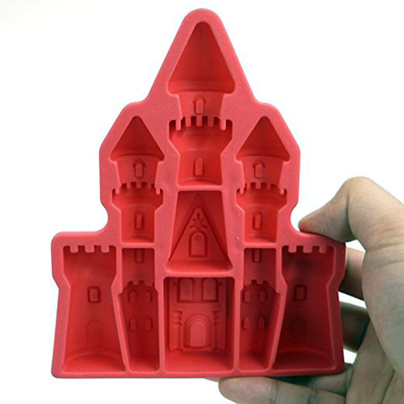 Palace Castle Shaped Ice Cube Tray Silicone 3d Diamonds Gem Cool Ice Cube Chocolate Soap Mold