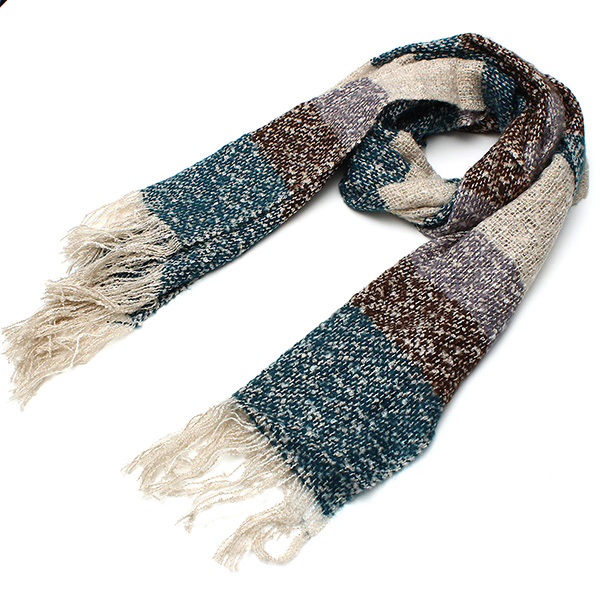 Women Ladies Wool Colorful Scarf Thicken Knitting Warm Shawl Long Scarves