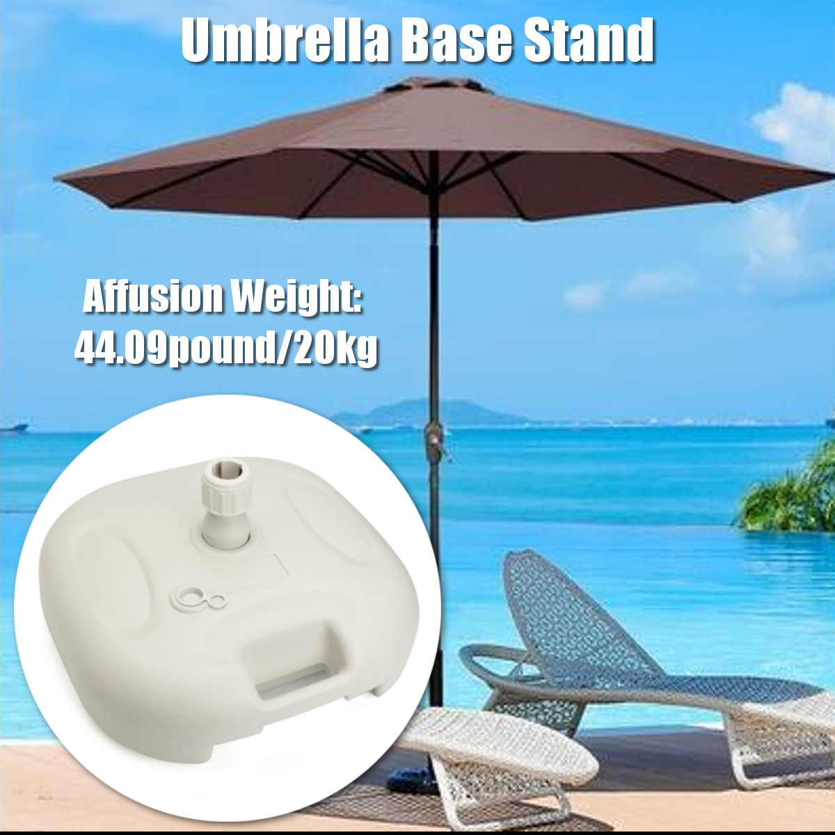 IPRee™ Outdoor Umbrella Stand Parasol Base Patio Furniture Fill With Water Sand