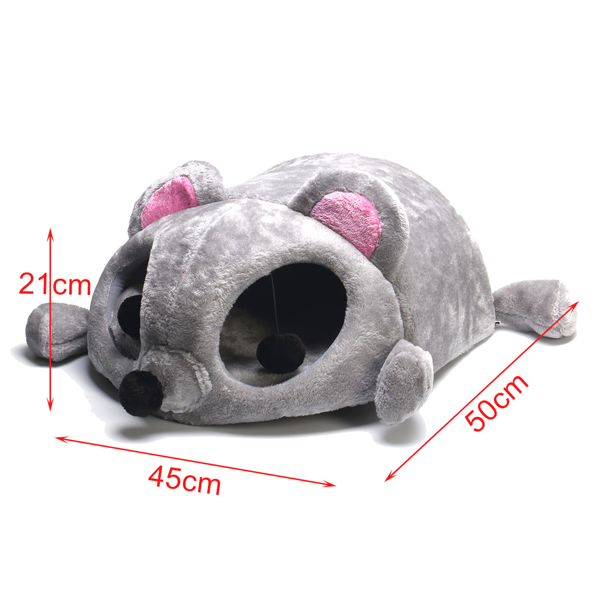 Pet Supplies Cozy Cat Cave House Cartoon Pet Tent Bed Cat Sleeping Coushion Pad Kennel