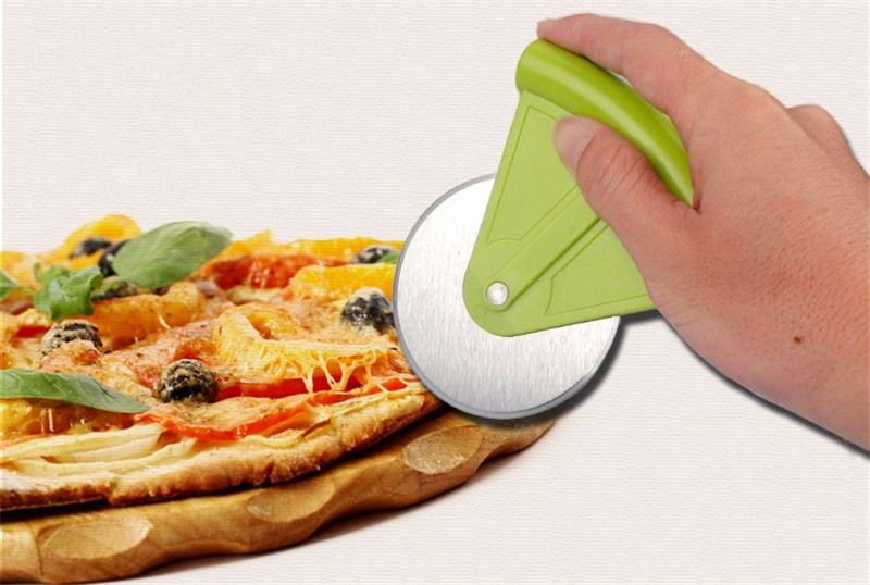 Home Family Stainless Steel Pizza Cutter Kitchen Accessories Pizza Cake Tools Pizza Wheels