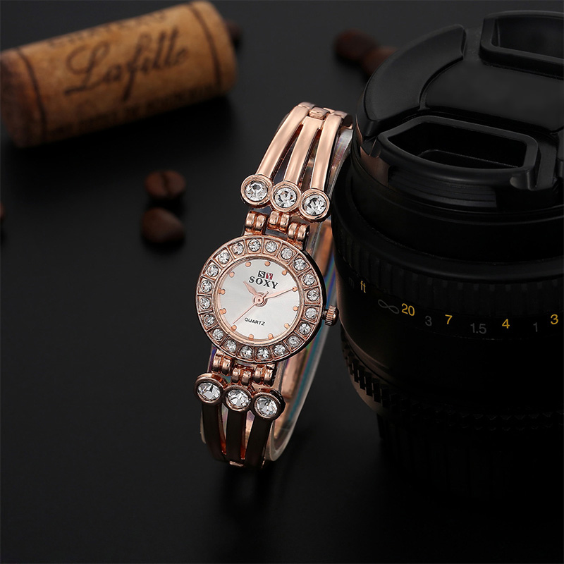 Crystal Round Dial Ladies Bracelet Watch