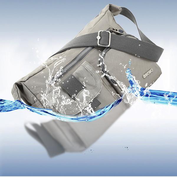 Light Weight Nylon Waterproof Messenger Bags Multi Zipper-pockets Shoulderbags Crossbody Bags