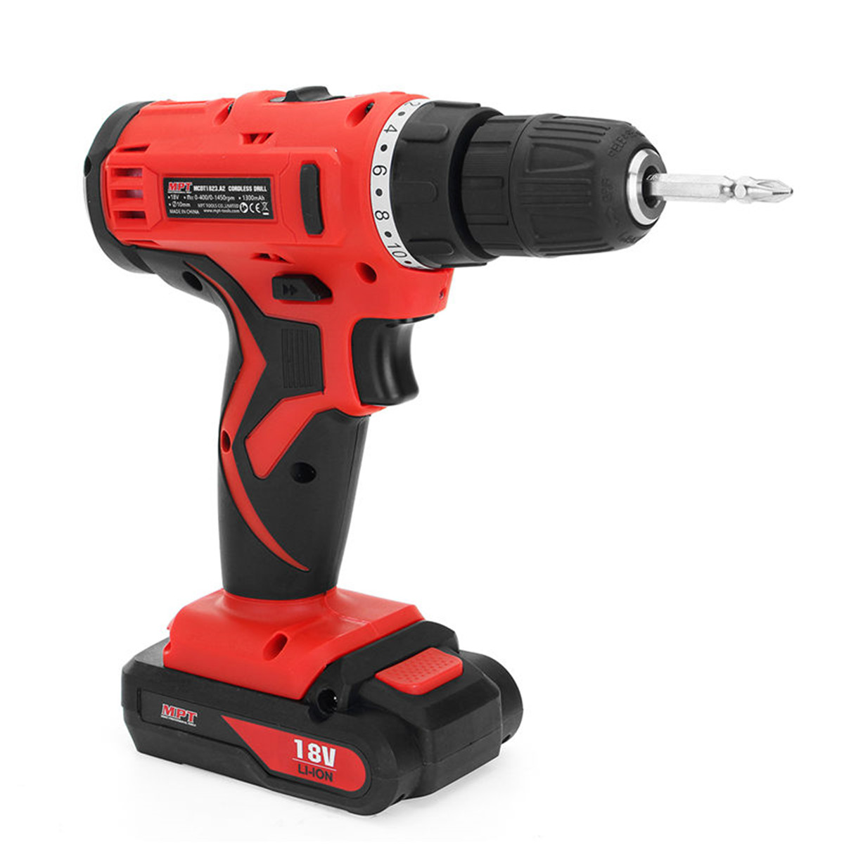 18V MPT Cordless Drill Battery Screwdriver Lithium Ion Mini Drilling Machine