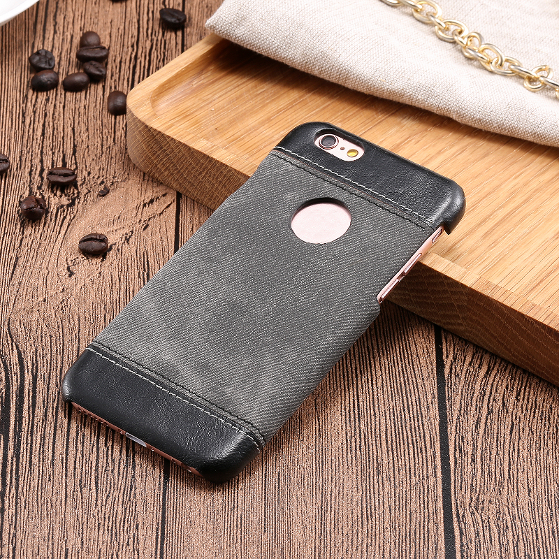 Luxury Cowboy Veins Leather Case PU Leather With Holes Denim Veins Case Cover For iPhone 6 6s