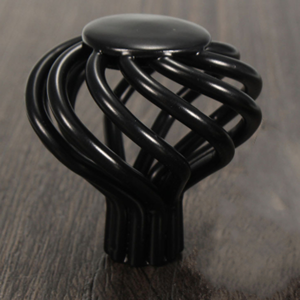Black Bird Cage Door Cabinet Cupboard Drawer Pull Handle Knob