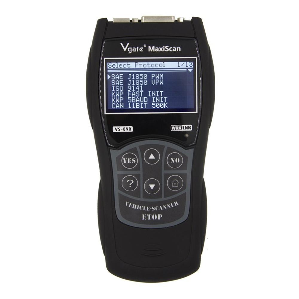 VGATE VS890 OBD2 Scanner Car Diagnostic Tool Engine Fault Code Reader CANBUS 12V Multi-Languages