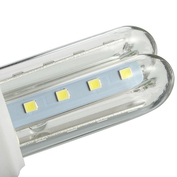 ZX E27 3W 5W 7W SMD 2835 U Shape LED Pure White Warm White Corn Light Bulb AC85-265V