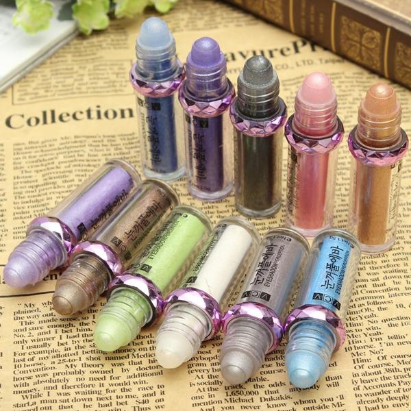 11 Colors Glitter Eyeshadow Stick Makeup Tool Eye Shadow Liner Pen Pencil Comestic