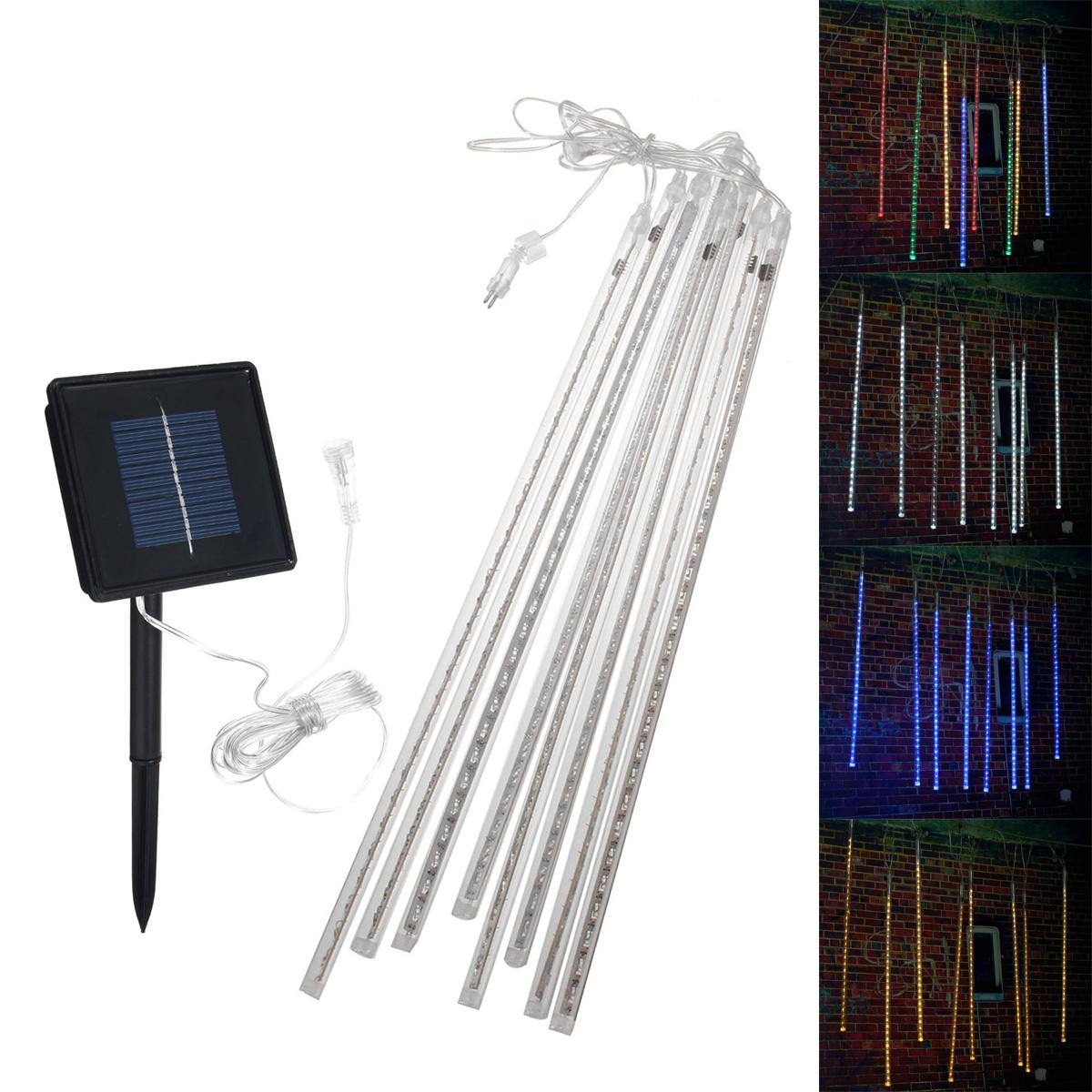 Waterproof Solar Powered 50cm 8 Tubes LED Meteor Shower Rain Garden Tree HoliDay Light