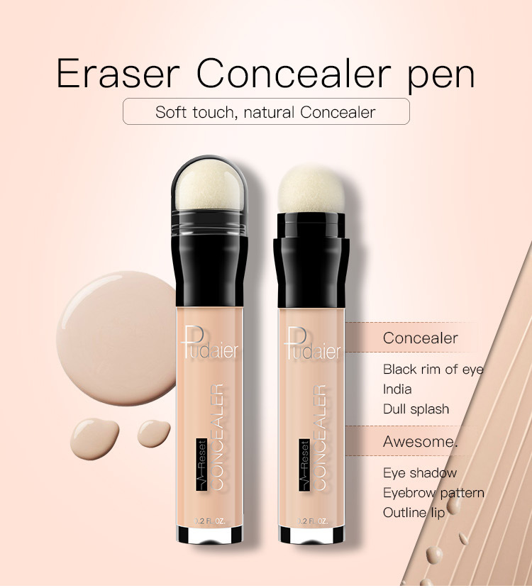 Pudaier Eraser Concealer Ручка Ручкаcil Soft Touch Shading Cream Lip Highlight Spot Cover Foundation