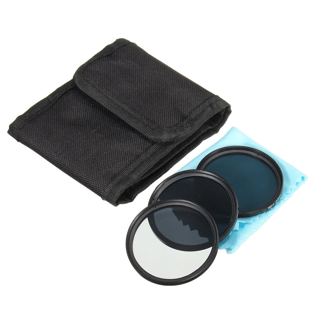 52mm ND Neutral Density Filter Set ND2 ND4 ND8 for Canon Nikon DSLR Lens