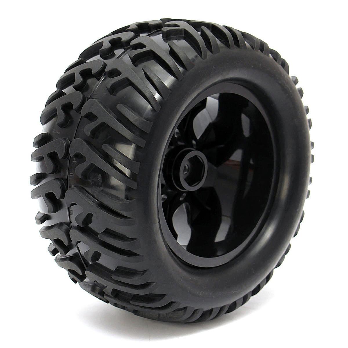 4PCS Wheel Rim & Tires HSP 1:10 Monster Truck RC Car 12mm Hub 88005