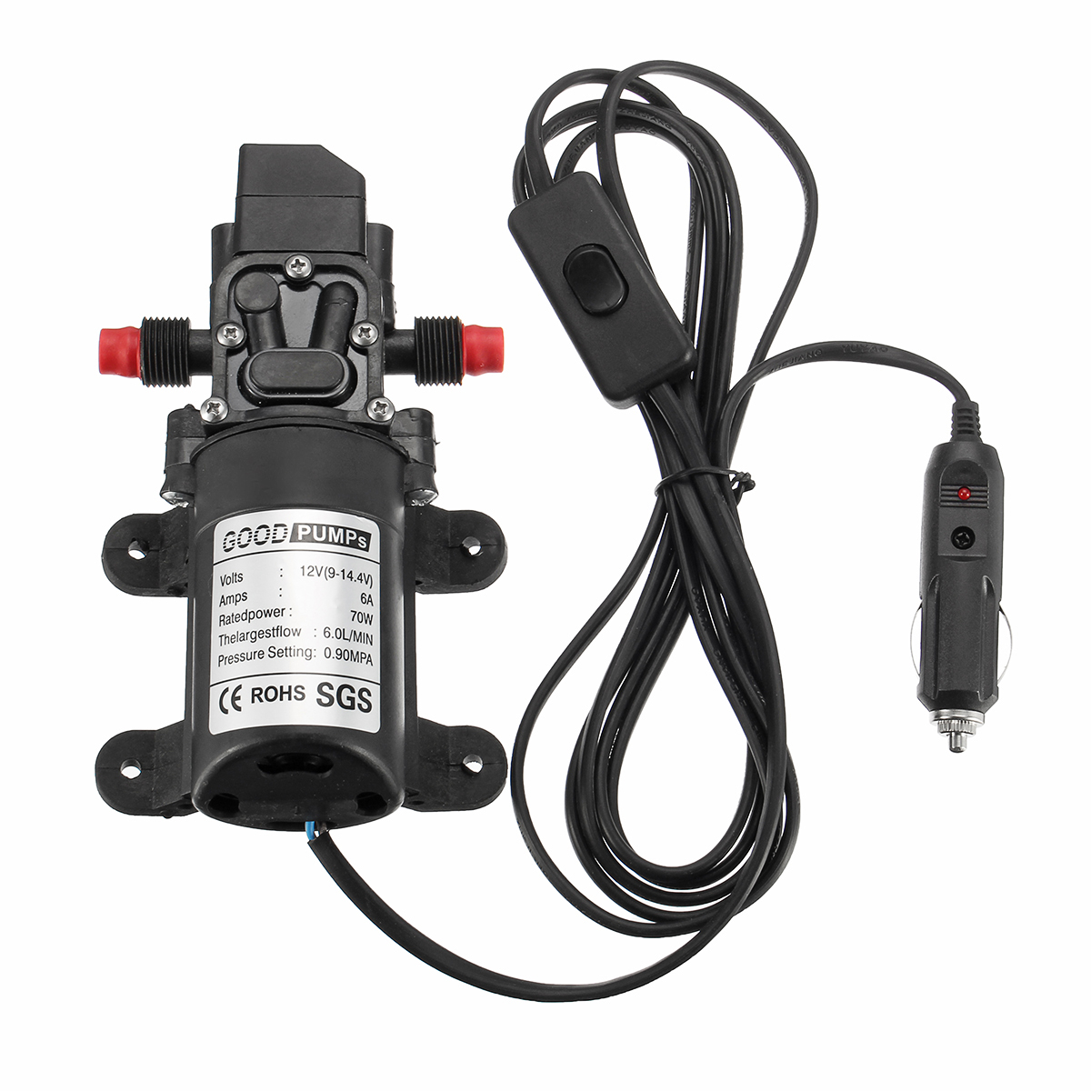 12V 70W High Pressure Washer Power Pump Self-priming Electric Water Wash