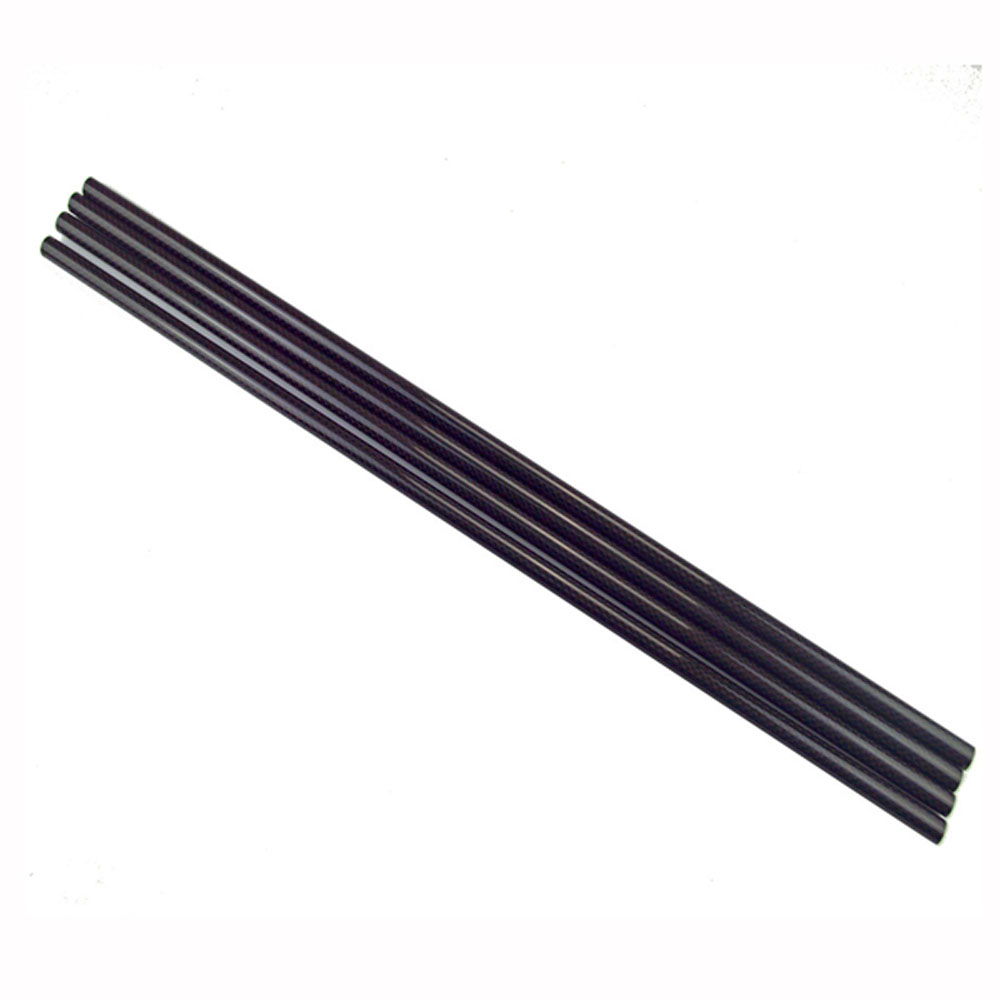 5PCS 3K Roll Wrapped 10mm Carbon Fiber Tube 8mm x 10mm x 500mm for RC Models