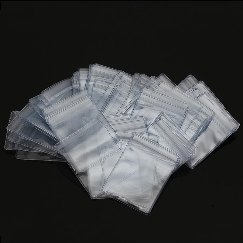 100Pcs 6x8cm Reclosable Ziplock Bag PVC Wrapping Self Adhesive Seal Ring Transparent Bags
