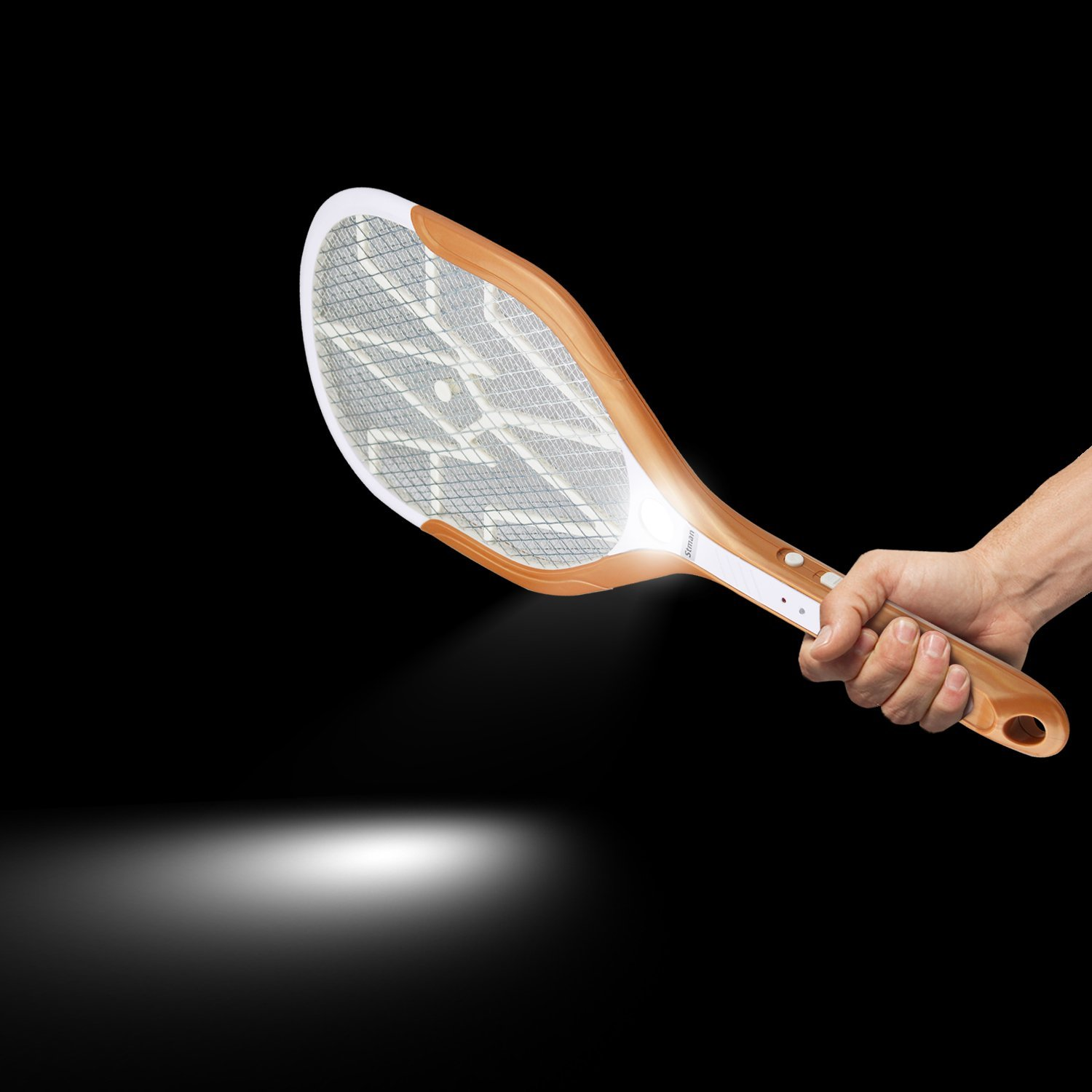 USB Fast Charging Electric Mosquito Fly Pest Killer Zapper Racket with Three LED Lights