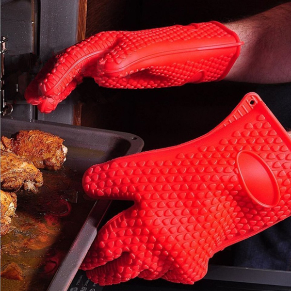 Honana Thicken Silicone Heat Resistant Glove Grilling G