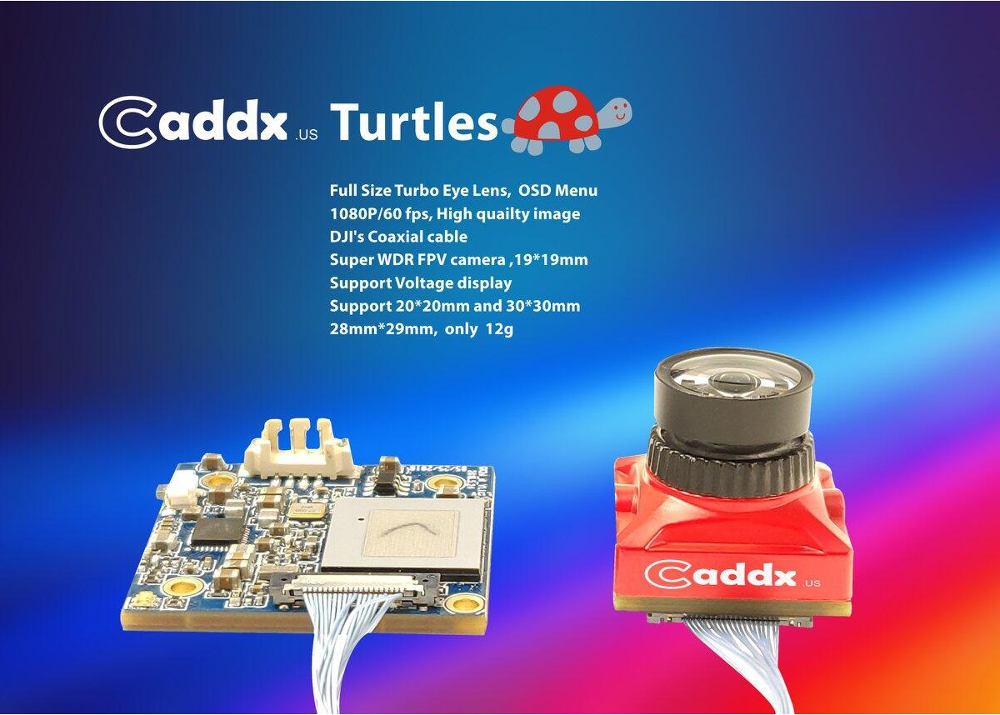 Caddx Turtles FOV 145 Degree Super WDR Mini FPV Camera 1080P 60fps DVR HD Recording OSD for RC Drone