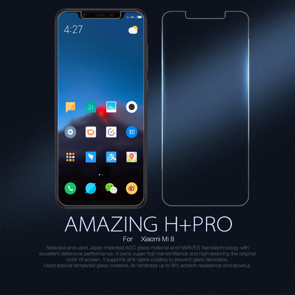 NILLKIN Amazing H+PRO Anti-Explosion Tempered Glass Screen Protector For Xiaomi Mi 8/ Xiaomi Mi8 PRO