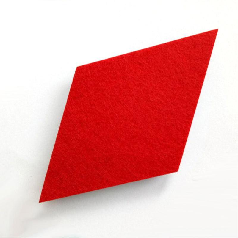 Honana DX-175 9PCS Creative Colorful Rhombus Wool Felt Multifunctional Wall Sticker Smart Collect Board