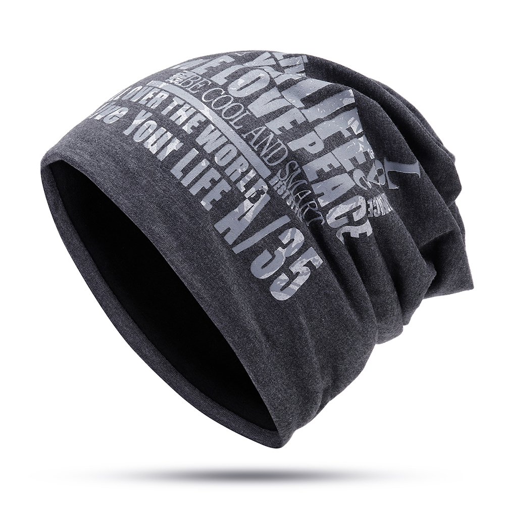 Men Women Earmuffs Letter Beanie Hat Ski Skull Caps