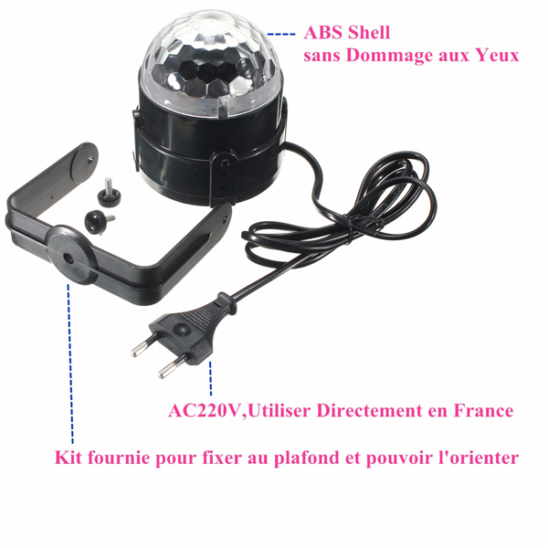 SOLMORE RGB Laser Projector LED Stage Light Sound Control Magic Ball Effect Lamp for Club DJ Disco