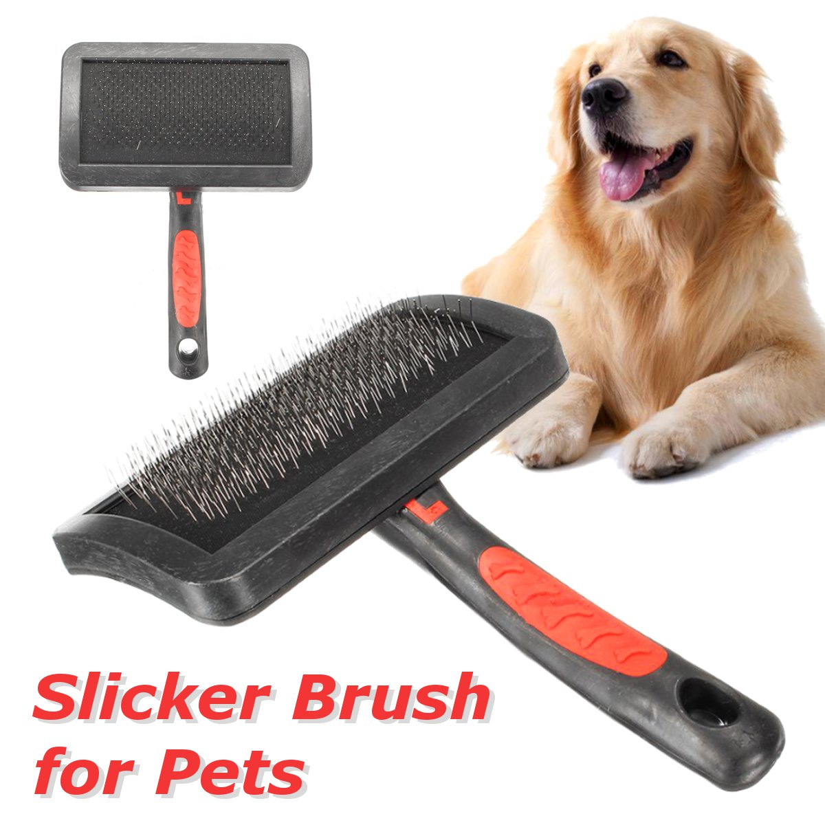 Grooming Self Cleaning Slicker Brush Comb Hair Fur Shedding