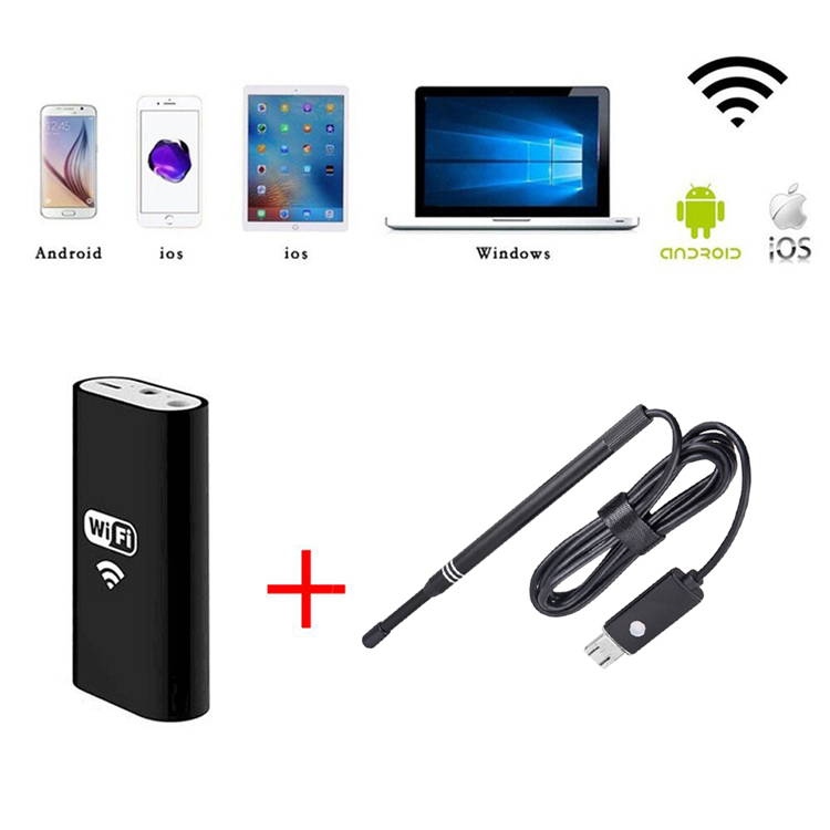 Wireless Borescope USB Camera 5.5MM Lens Visual Borescope Inspection for Android IOS PC