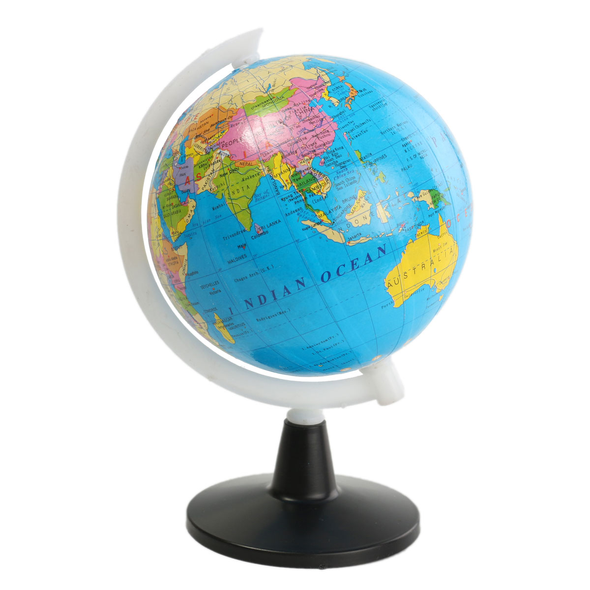 8.5cm World Globe Atlas Map With Swivel Stand Geography Educational Toy Home Decor Gift