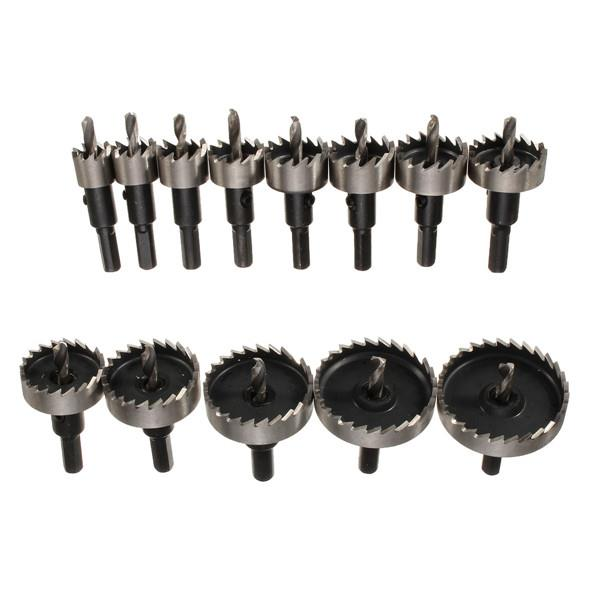 13pcs High Speed Steel Hole Saw Drill Bits Set 16-53mm Hole Saw Cutter Power Tools