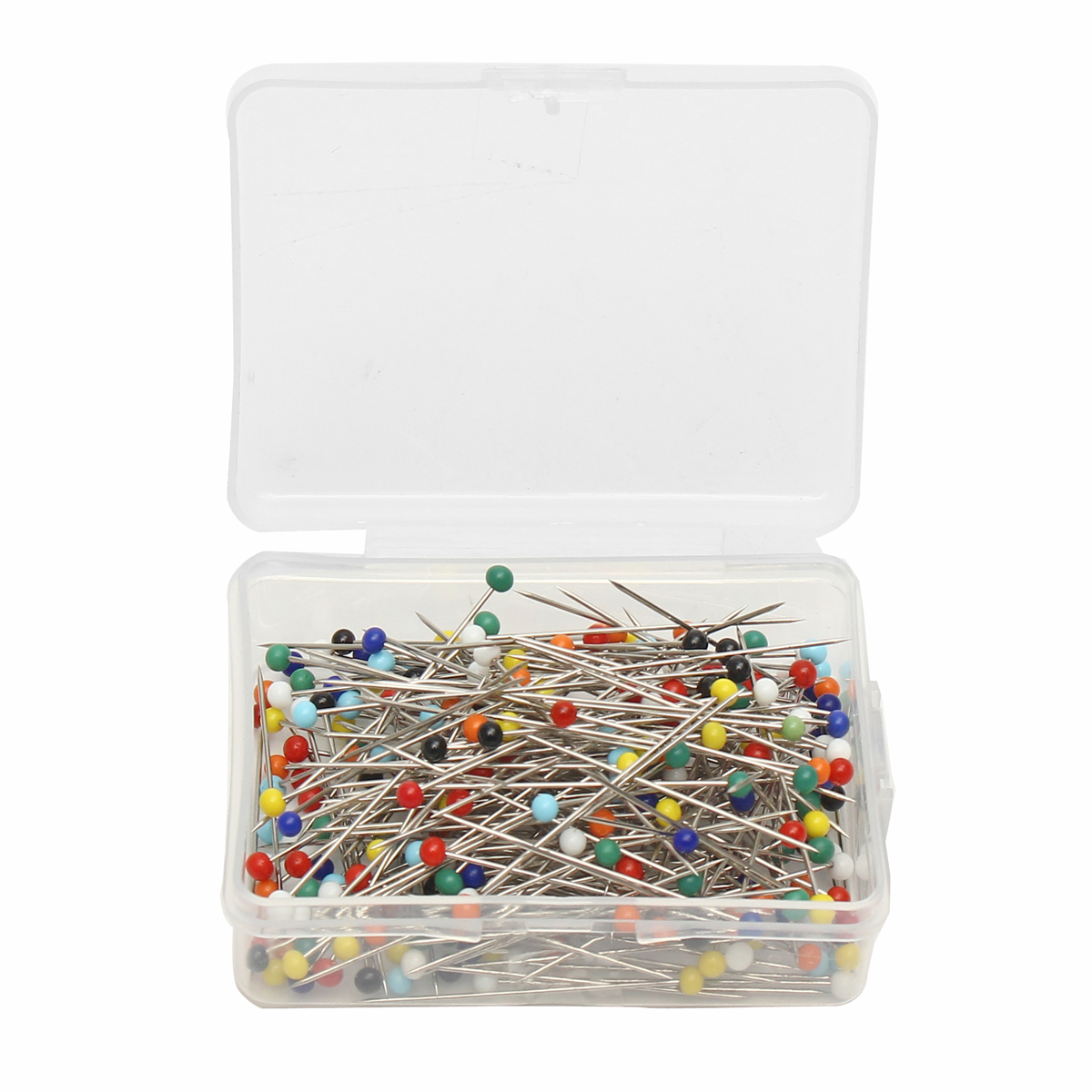 250pcs Glass Pearlized Head Pins Multicolor Ball Sewing Pins for DIY Crafts Jewelry DressMaking 38mm