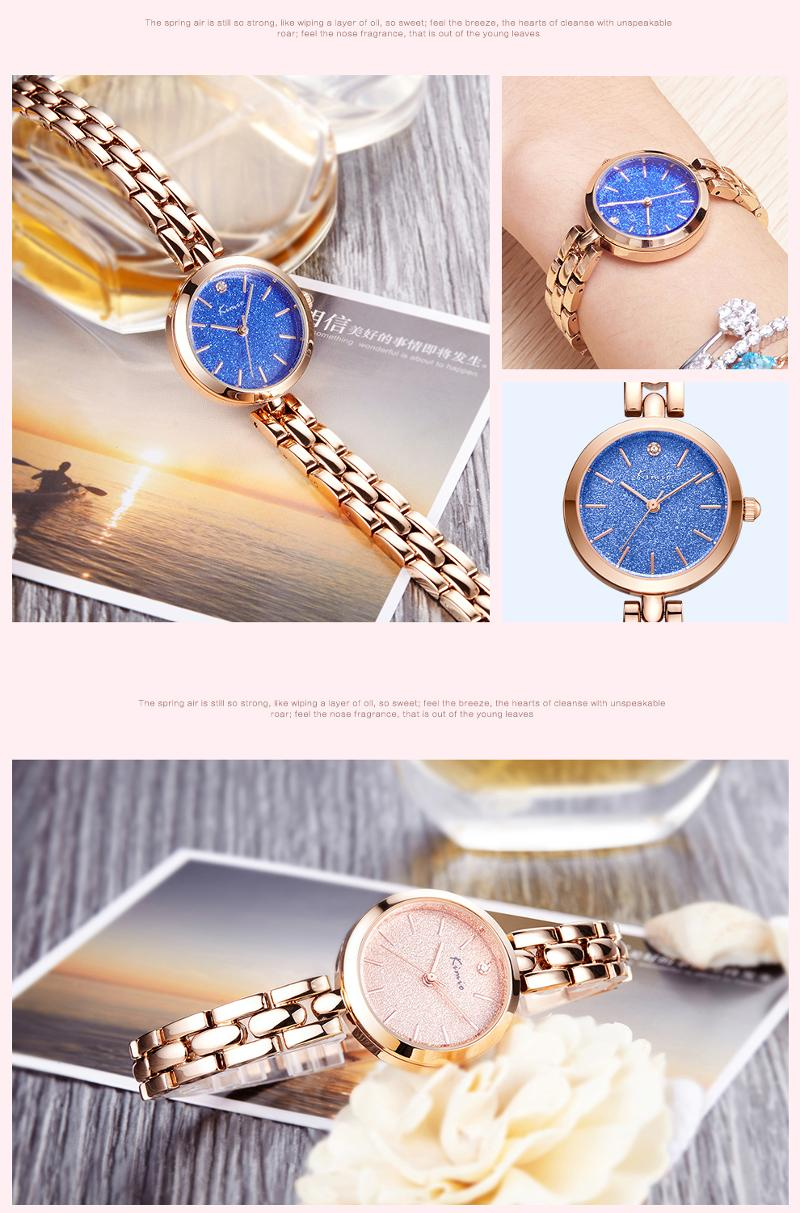 KIMIO K6215S Fashion Women Quartz Watch Luxury Rhinestones Ladies Bracelet Watch