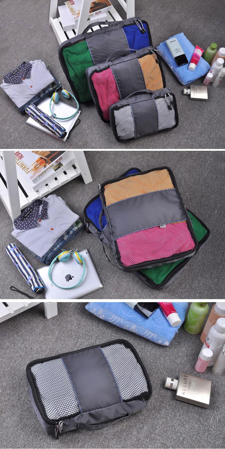 3pcs Travel Bag Waterproof Storage Bag Multifunctional PorTable Cloth Luggage Home Organizer
