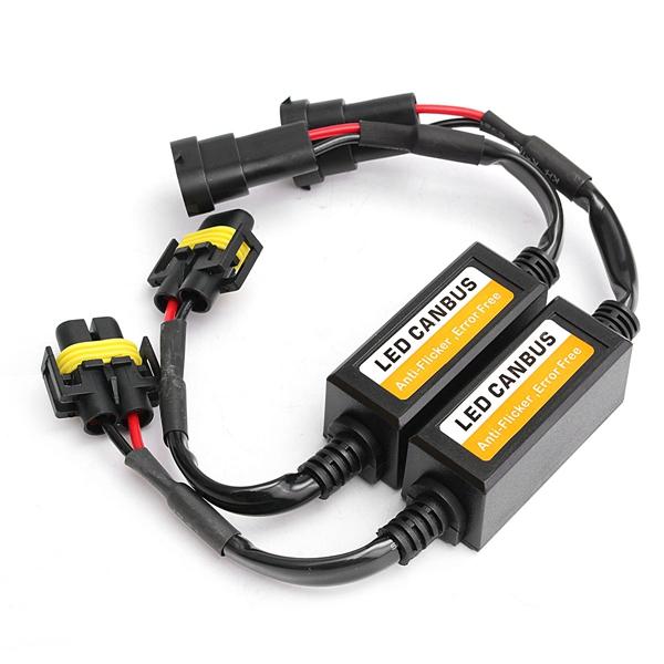 Pair H8 H9 H11 LED Headlight Decoder Canbus Warning Error Canceler Load Resistor