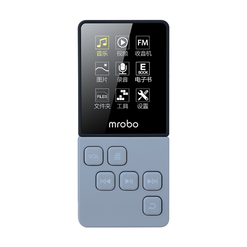 Mrobo C6 8GB FM Radio Receiver MP3 Music Player Voice Record Support 64G TF Card E-book