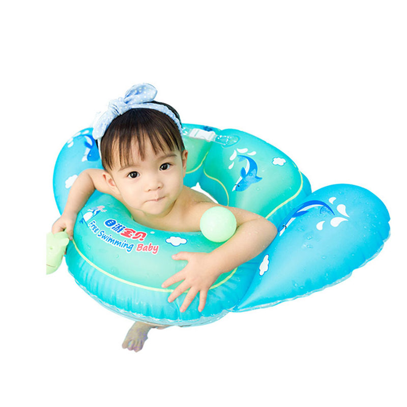 6-36Mouths Baby Inflatable Armpit Swimming Ring U Shape Floating Kids Bathing Water Toy Circle