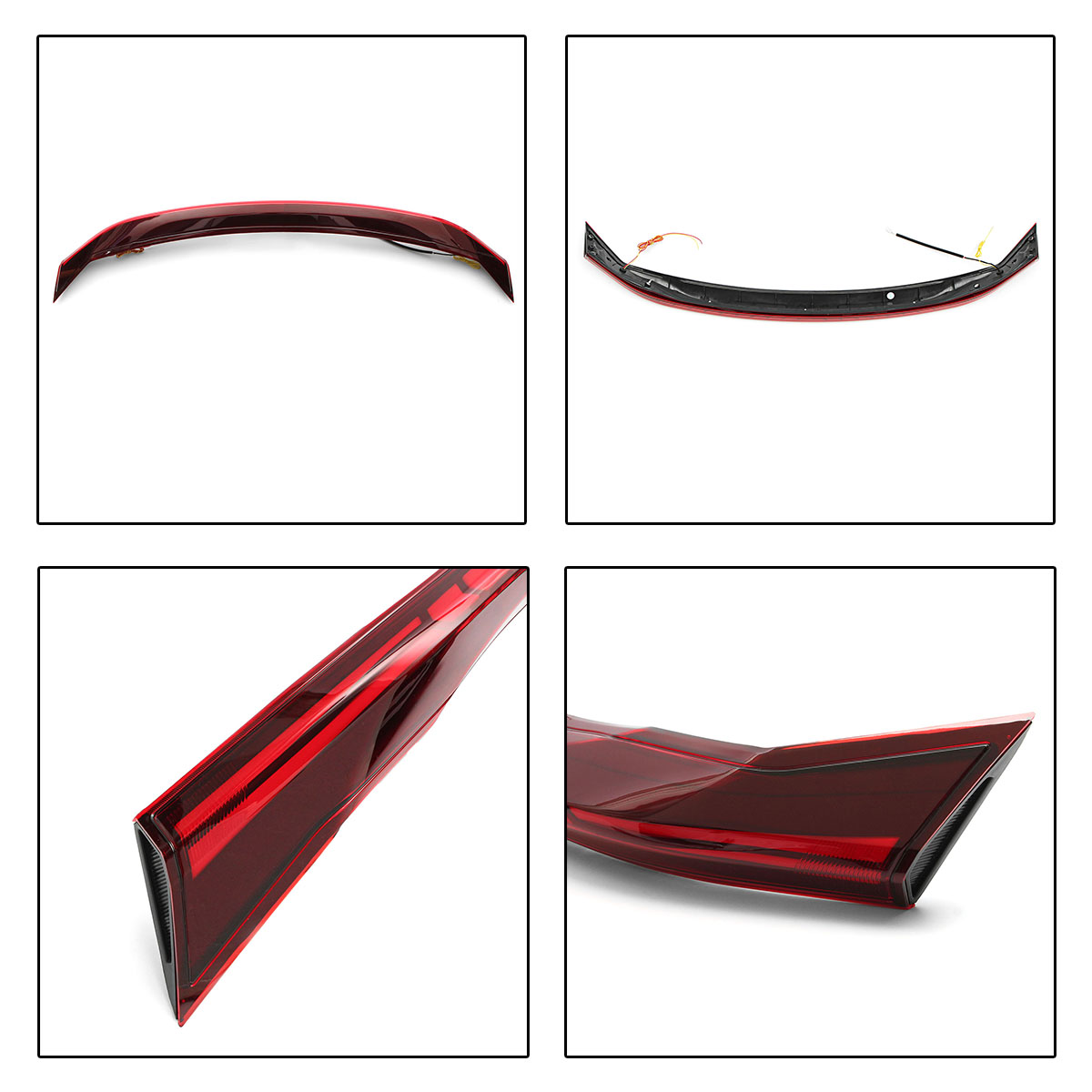 Flow Style LED Car Rear Trunk Center Middle Spoiler Tail Light for Honda Civic 10th 16-18