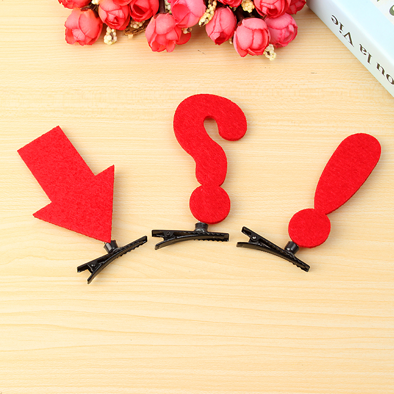 1Pc Lovely Symbol Question Mark Exclamation Mark Arrow Hairpin