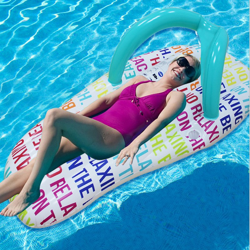 IPRee™ 150 x 75cm Inflatable Rainbow slipper Floating Row Beach Swimming Ring Water Toys