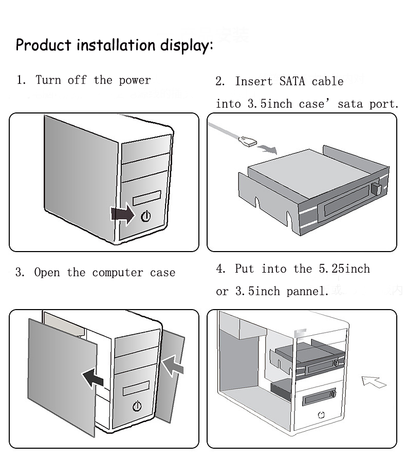 Multifunction External Internal Hard Disk Enclosures for 2.5inch SATA HDD SSD CD-ROM Extend Adapter