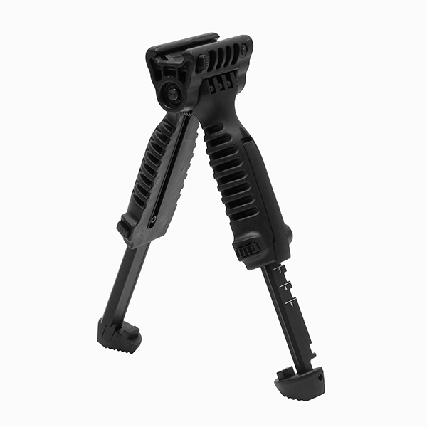 Tactical Bipod Stand Foregrip Adjustable Vertical Tripod 20mm Rail Mount 5 Length