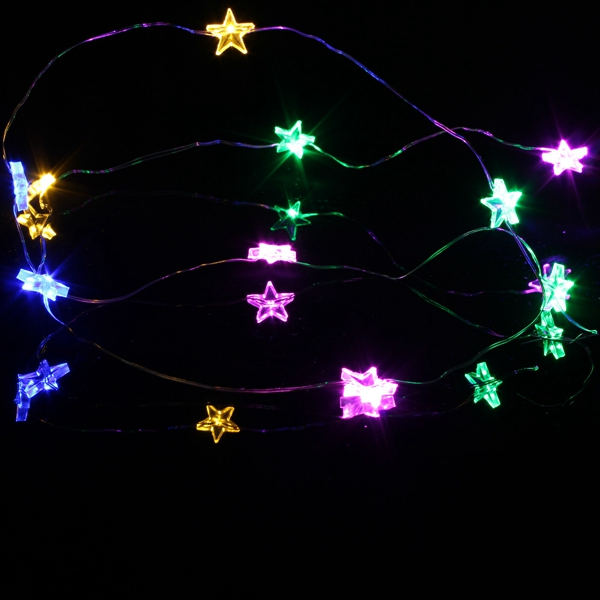 3M 30 LED Battery Powered Star String Fairy Light For Christmas Party Weddinng Decor