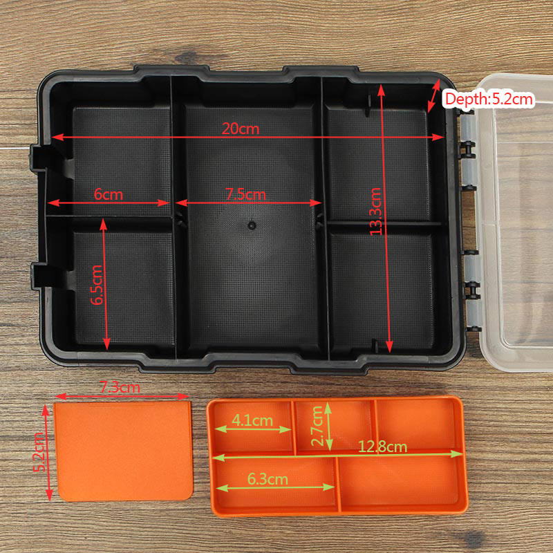11 Grids Plastic Assortment Storage Box Double Layer Crafts Tools Parts Container Organizer
