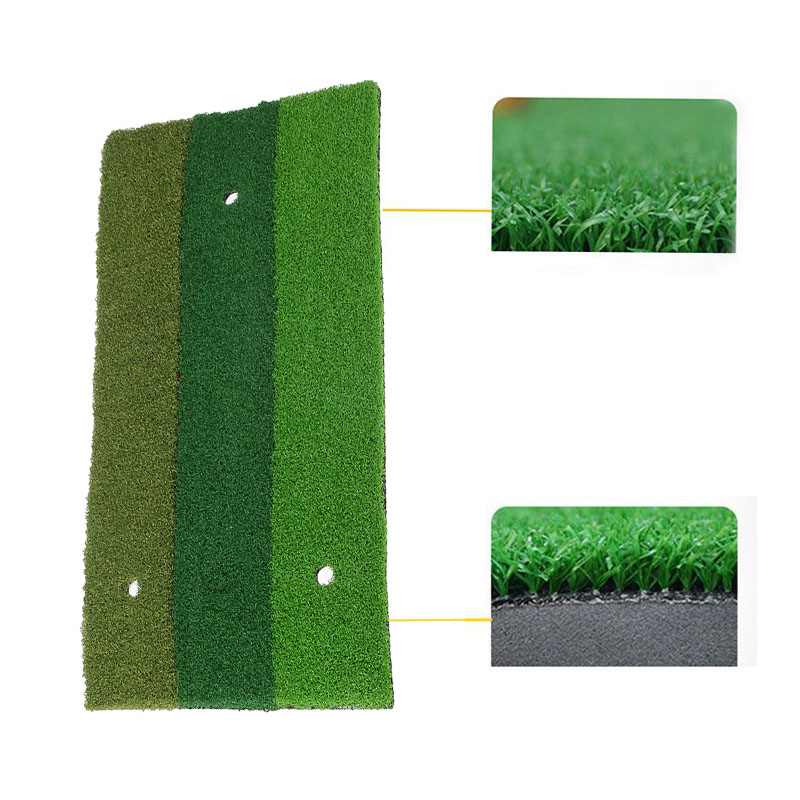 60x30cm Golf Mat Rubber Outdoor Indoor Eco-friendly Green Golf Hitting Mat Practice Equipment