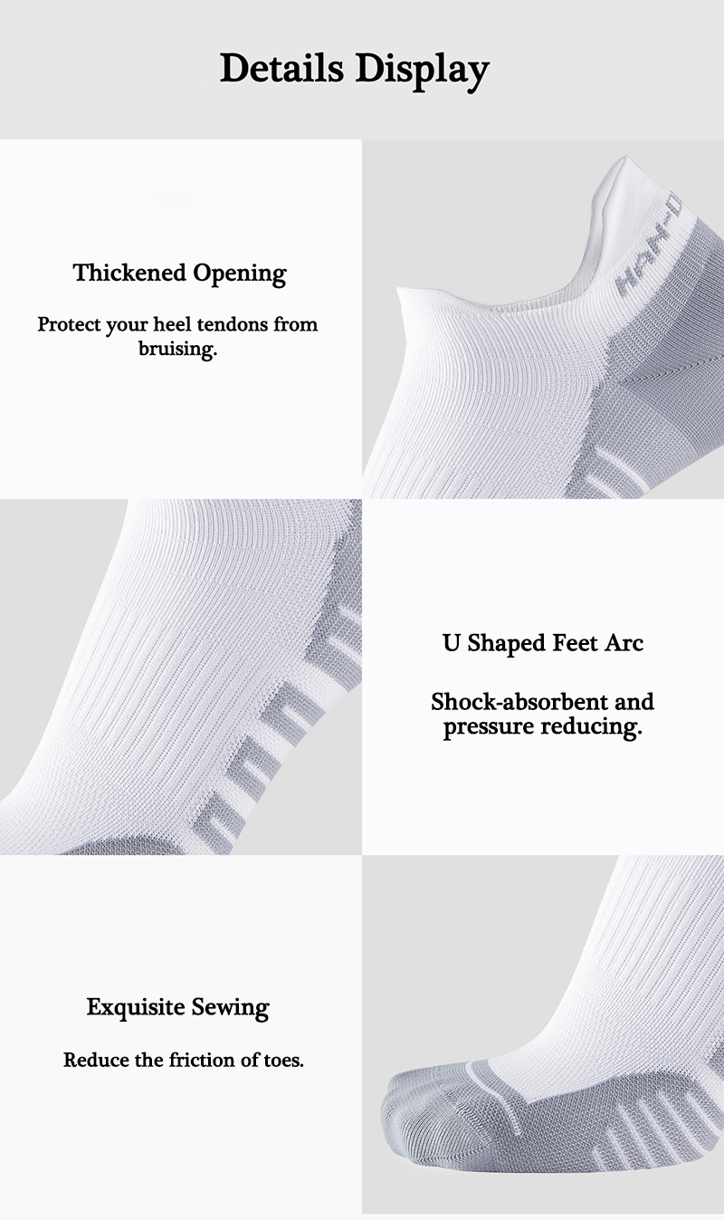 XIAOMI 3 Pairs Outdoor Sports Athletic Socks Breathable Short Ankle Running Socks For Men Women