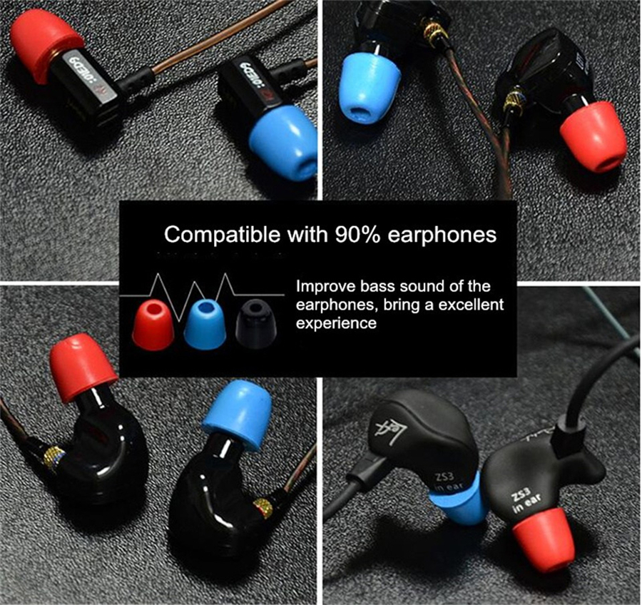 KZ 1 Pairs Replacement Earmuffs Soft Memory Foam Sponge Earbuds for In-ear Earphone Headphone