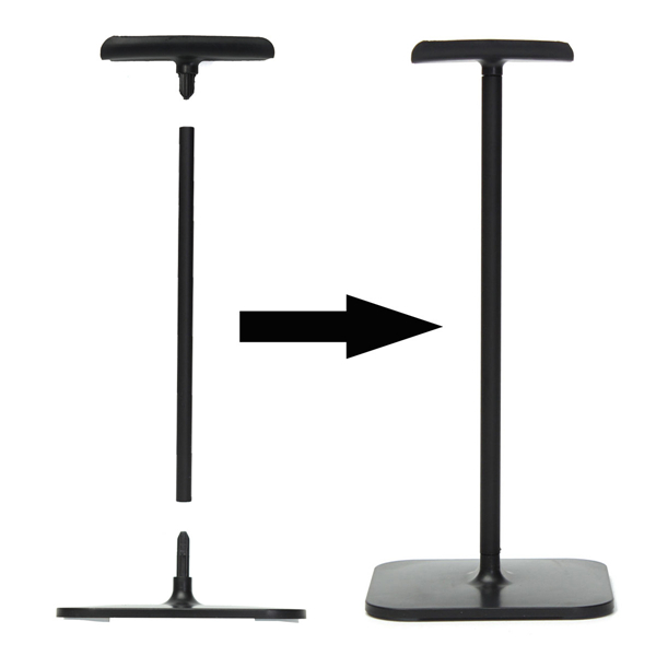 245mm I-shaped Display Stand Hanger Holder Base for Universal Headphone Headset