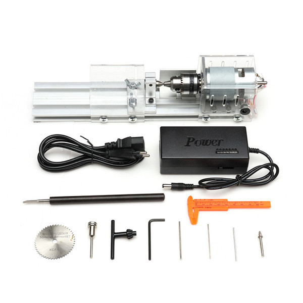 Mini Lathe Bead Machine Woodworking Rotary DIY Tool for Grinding Cutting Drilling